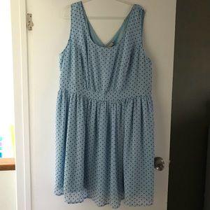 eShakti Baby Blue dress 3X 26W